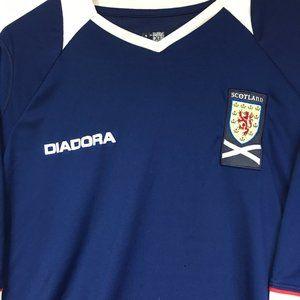 Scotland Diadora Youth Soccer Jersey.